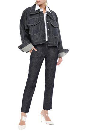 MICHAEL LO SORDO Cropped oversized denim jacket