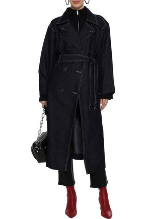 CURRENT/ELLIOTT The HH Club belted denim trench coat