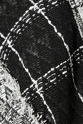 ROLAND MOURET Bellasis frayed cotton-blend tweed jacket