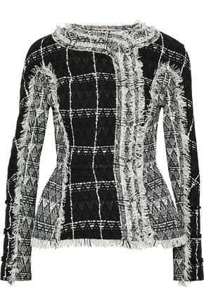ROLAND MOURET Bellasis frayed cotton-blend tweed jacket