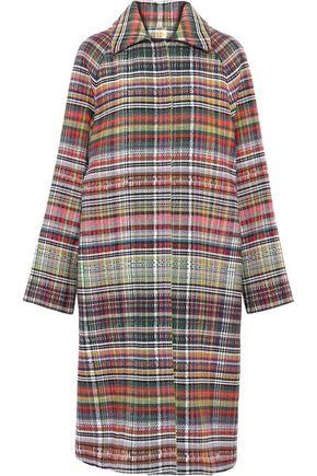 GOEN.J Checked tweed coat