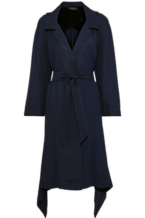 ROLAND MOURET Victor draped twill trench coat