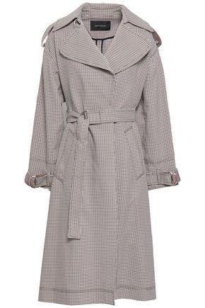 CEDRIC CHARLIER Checked cotton-blend jacquard trench coat