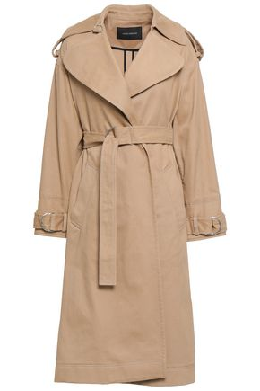 CEDRIC CHARLIER Cotton-blend twill trench coat
