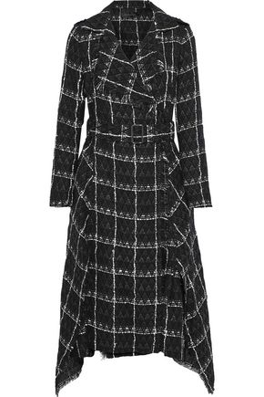 ROLAND MOURET Kennedy belted checked cotton-blend tweed coat