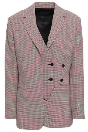CEDRIC CHARLIER Checked virgin wool-blend blazer