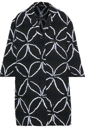 ROLAND MOURET Paddington cotton-blend jacquard coat