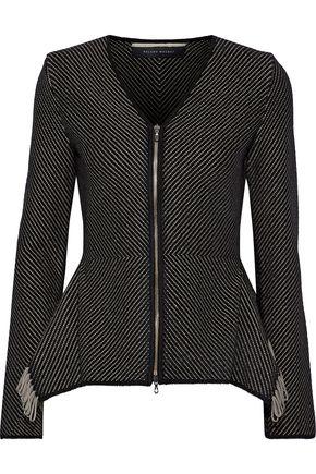 ROLAND MOURET Brannon fringed knitted jacket