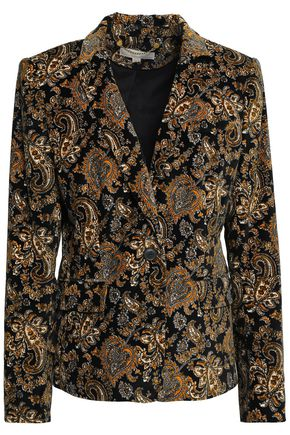 MICHAEL MICHAEL KORS Printed cotton-blend velvet blazer