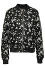 MICHAEL MICHAEL KORS Embroidered faux leather bomber jacket