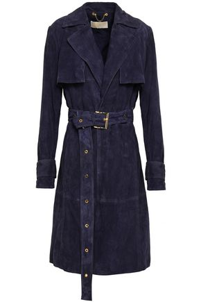 MICHAEL MICHAEL KORS Belted suede trench coat