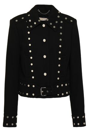 MICHAEL MICHAEL KORS Belted studded crepe jacket