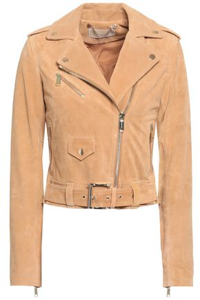 MICHAEL MICHAEL KORS Belted suede biker jacket