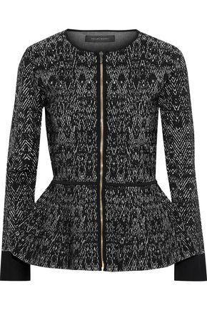 ROLAND MOURET Morris jacquard-knit peplum jacket