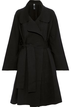 NORMA KAMALI Belted French stretch-cotton terry coat