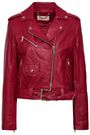 MICHAEL MICHAEL KORS Belted leather biker jacket