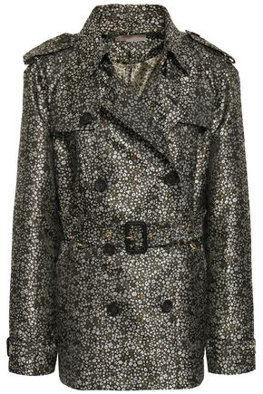 MICHAEL MICHAEL KORS Double-breasted floral-print jacquard coat