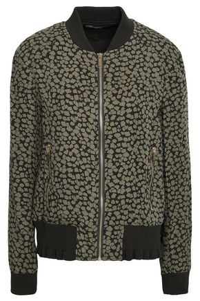 MICHAEL MICHAEL KORS Floral-print silk-crepe bomber jacket
