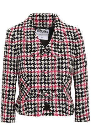 MOSCHINO Wool-blend tweed jacket