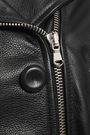 MOSCHINO Textured-leather biker jacket