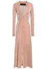 MICHAEL LO SORDO Metallic cotton-blend midi dress