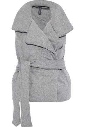 NORMA KAMALI Belted mélange stretch-cotton vest