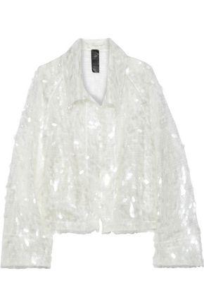 NORMA KAMALI Cropped sequined tulle jacket