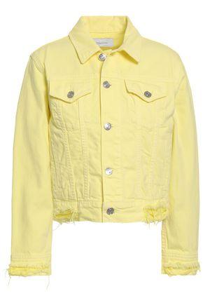 CURRENT/ELLIOTT Distressed denim jacket