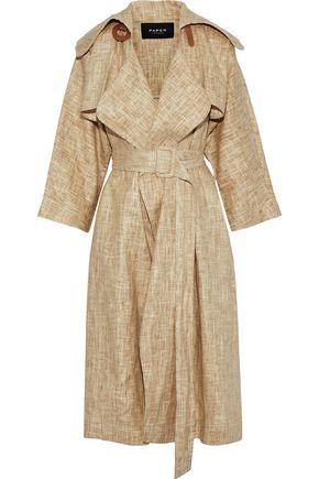 PAPER London Assasin Mac linen and Tencel-blend trench coat