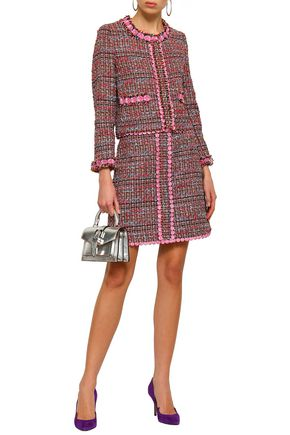 BOUTIQUE MOSCHINO Appliquéd bouclé-tweed jacket
