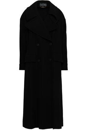 ALBERTA FERRETTI Double-breasted wool-blend felt coat