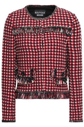 BOUTIQUE MOSCHINO Fringed jacquard jacket