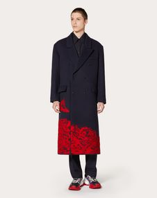 COAT WITH TIME TRAVELLER INTARSIA