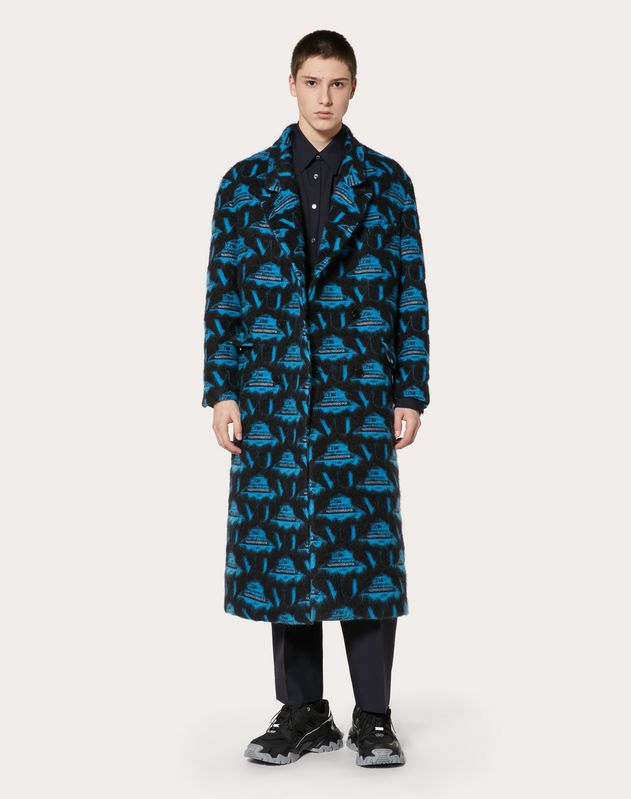 COAT WITH UFO VU INTARSIA