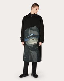 COAT WITH V FACE UFO INTARSIA