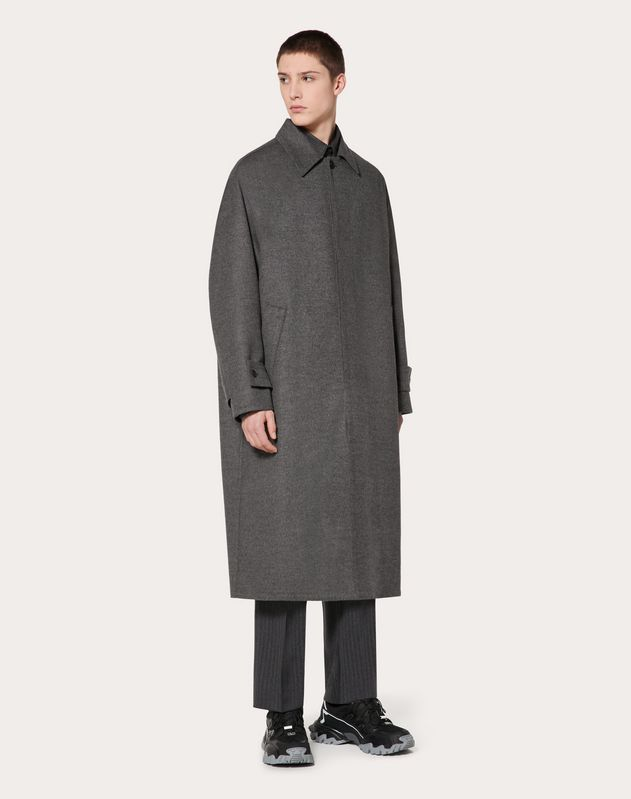 COAT IN DOUBLE-LAYER WOOL