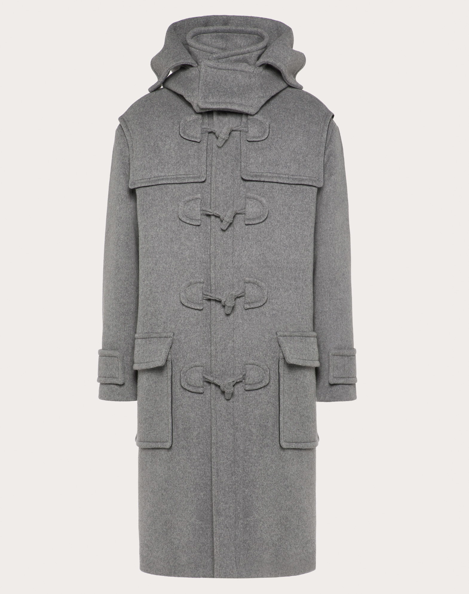 DOUBLE-LAYER WOOL PEA COAT