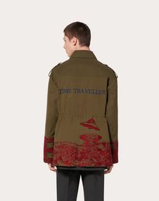 PEA COAT WITH TIME TRAVELLER EMBROIDERY