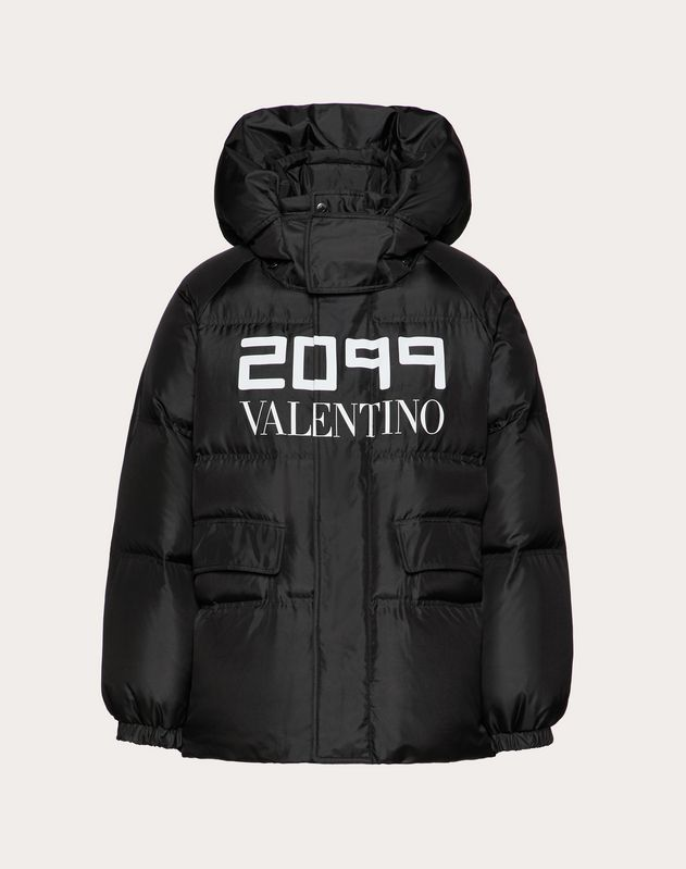 DOWN COAT WITH 2099 VALENTINO PRINT