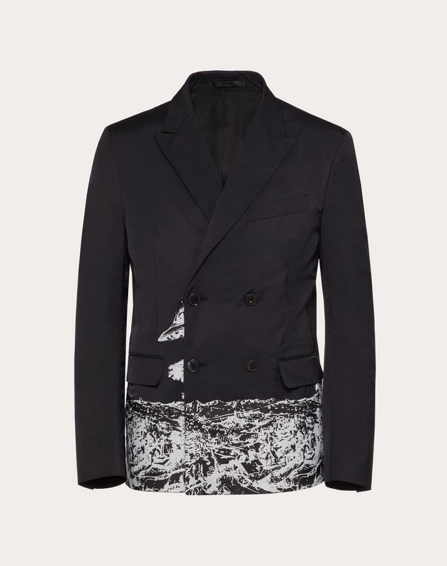 122751164 DOUBLE-BREASTED JACKET WITH TIME TRAVELLER PRINT