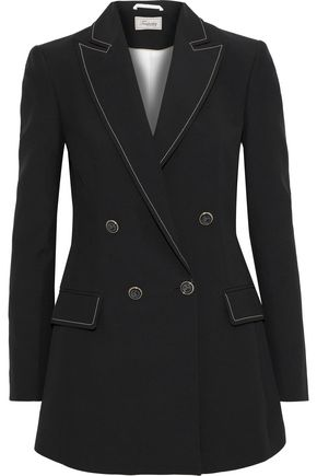 TEMPERLEY LONDON Double-breasted cotton-blend twill blazer