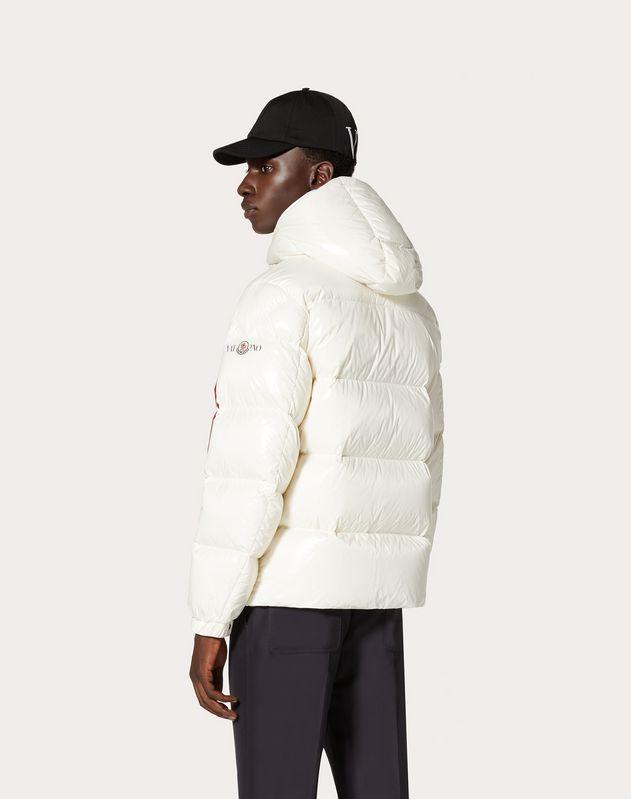 Moncler VLOGO lacquered nylon padded jacket