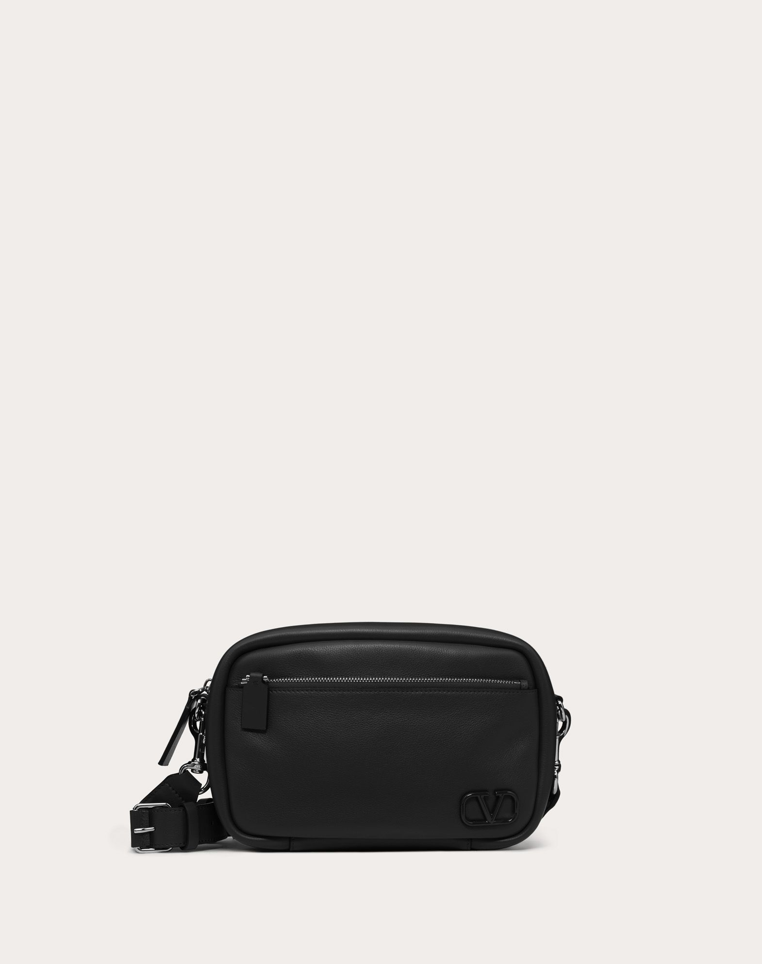 Leather VLOGO shoulder bag