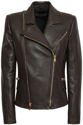 BALMAIN Leather biker jacket
