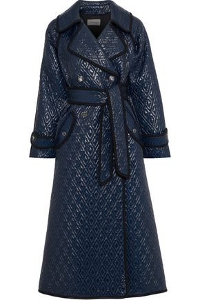 TEMPERLEY LONDON Vera double-breasted quilted coated shell coat