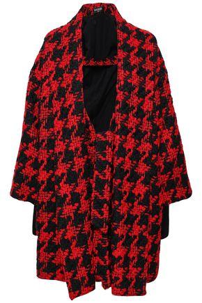 BALMAIN Houndstooth wool-blend tweed coat