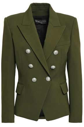 BALMAIN Double-breasted wool-blend blazer