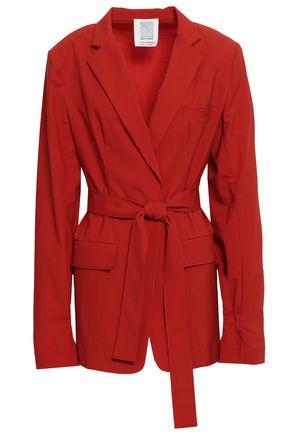 ROSIE ASSOULIN Belted wool-blend blazer