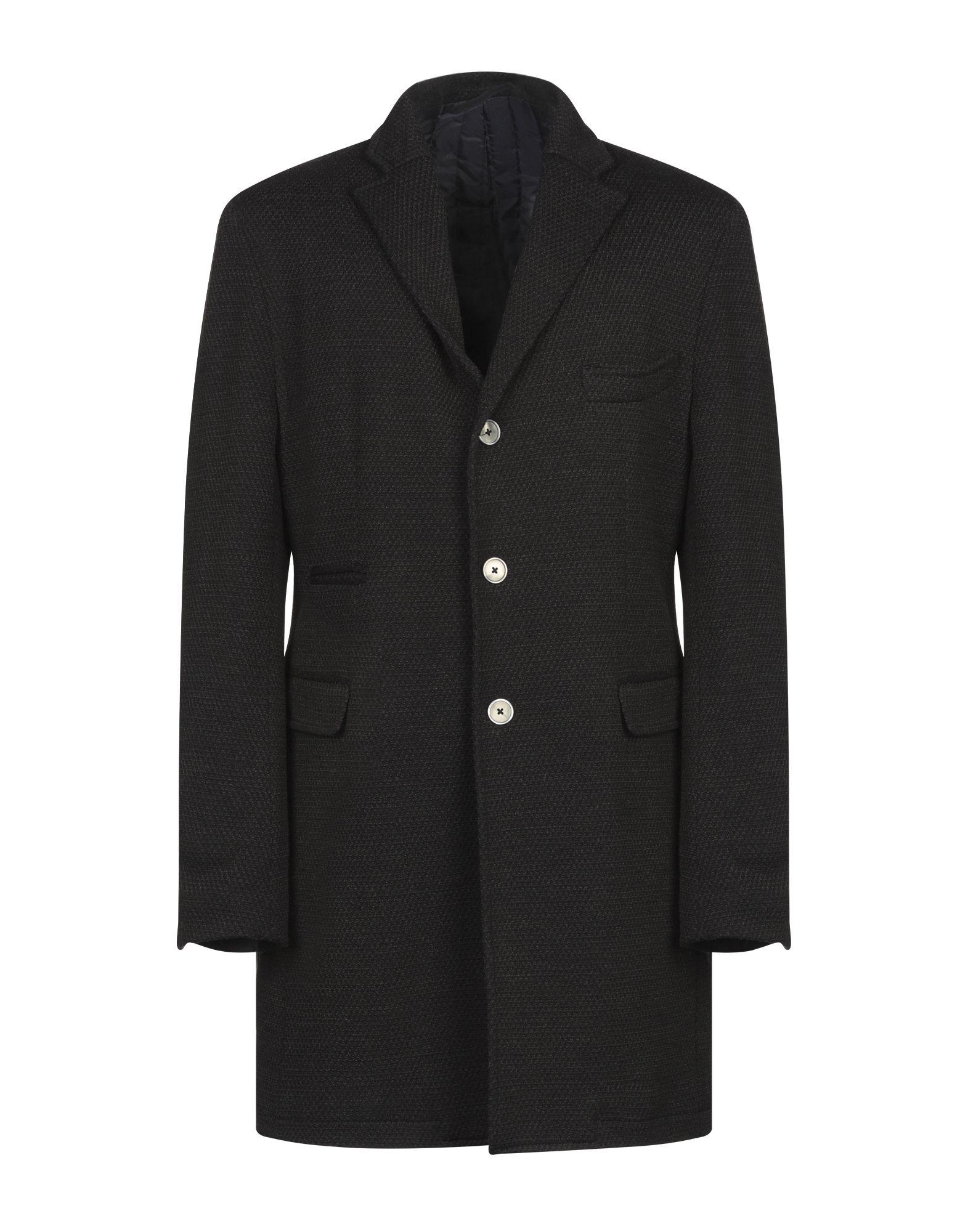 《期間限定セール開催中!》JOHN SHEEP メンズ コート ブラック 48 コットン 66% / ウール 34%