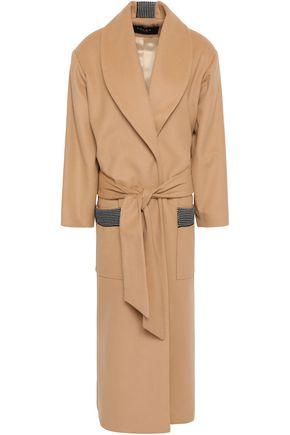 PAPER London Belted wool-blend felt coat